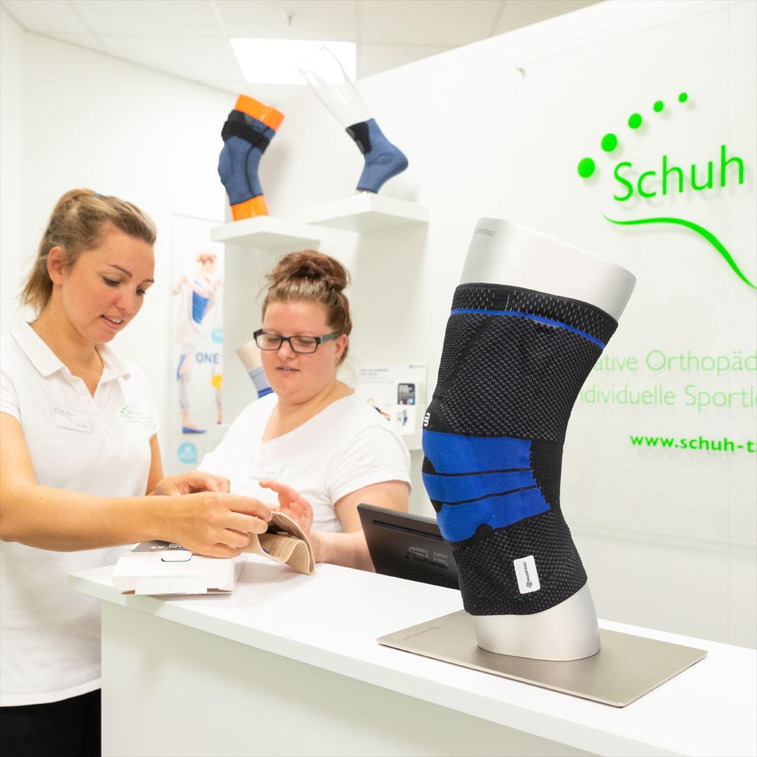 Schuh Tasch, Orthopädie-Schuhtechnik, Bandagen und Orthesen, Verkauf